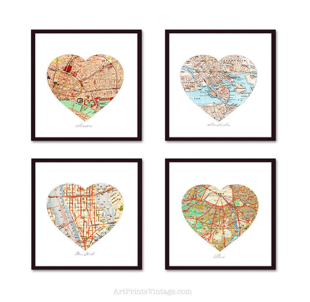 Heart map gift for personalized and unique anniversary gifts