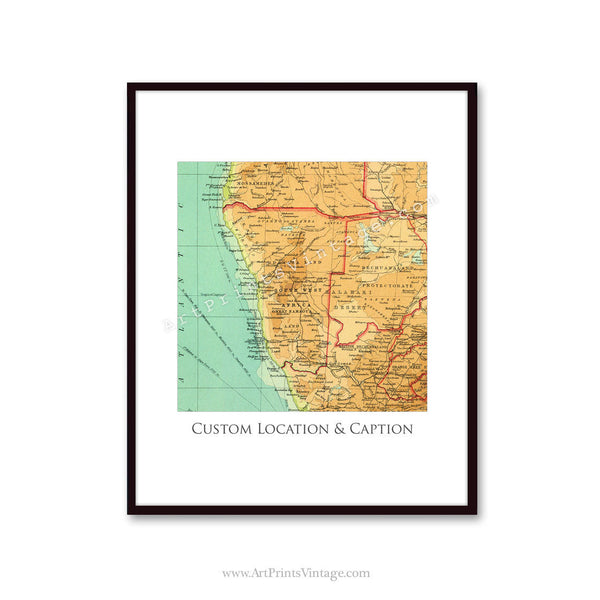 Archival quality vintage map print