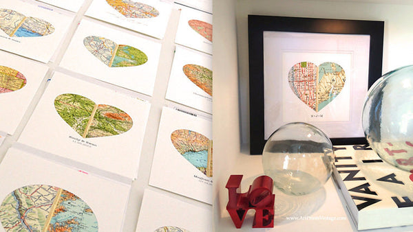 Custom map art for meaningful gifts