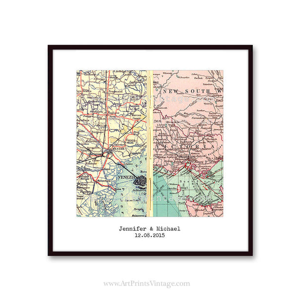Unique map gift for men