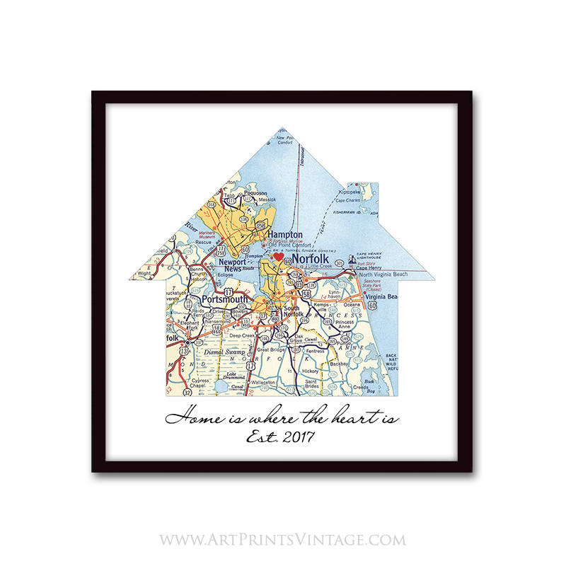 Realtor closing gift for new homeowner  sc 1 st  ArtSilVic | Personalized Map Art & New Home Housewarming Gift Personalized Map - Customized First Home ...