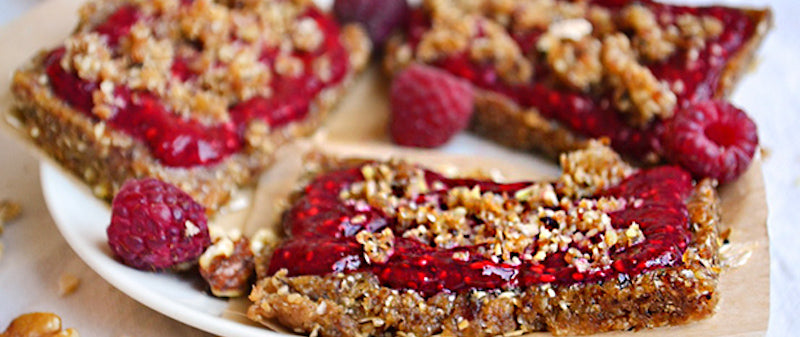 Raspberry Chia No-Bake Bar