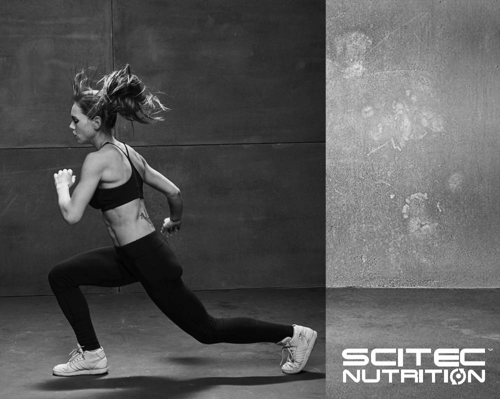 Scitec image of Fit woman doing in lunge position