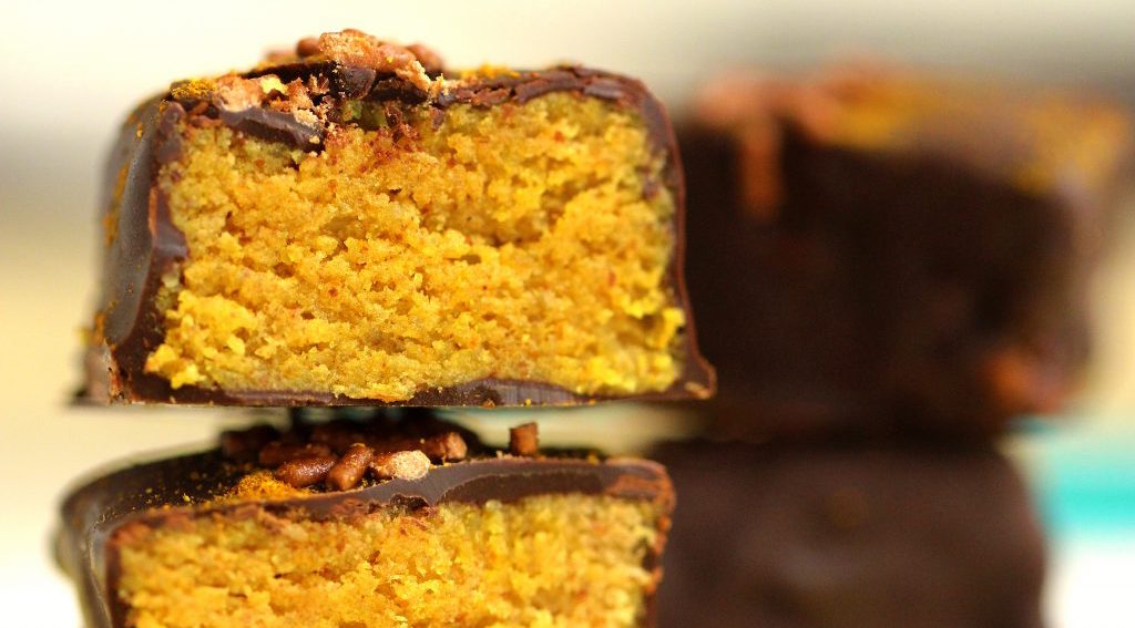 Chocolatey Turmeric Vegan Protein Bars