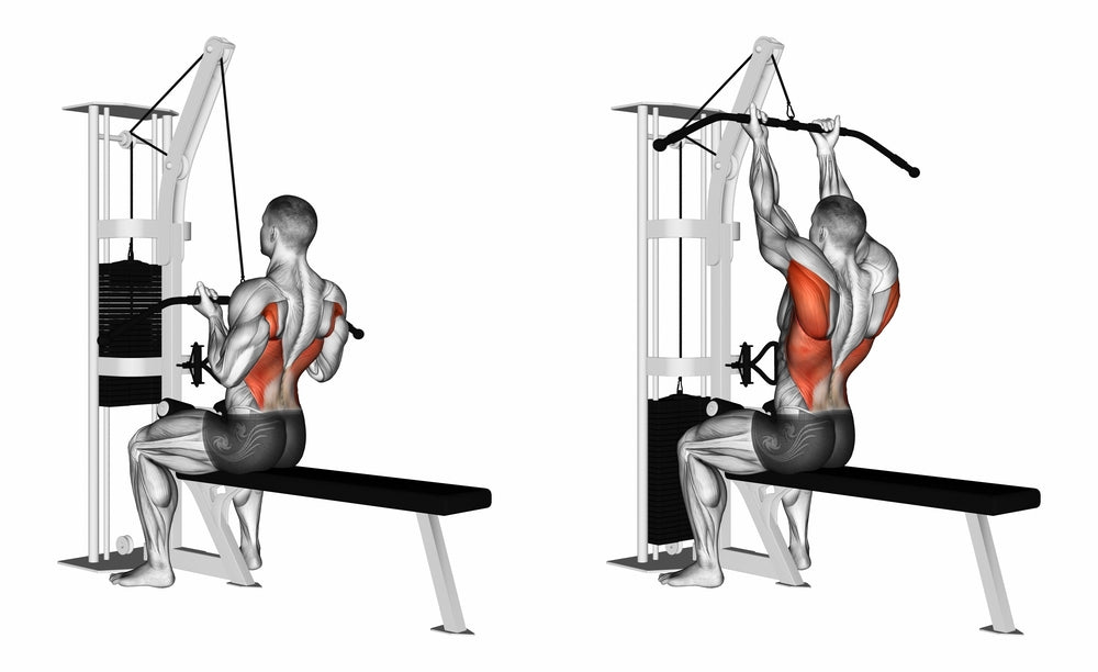 3D Illustration of man performing lose grip pull down