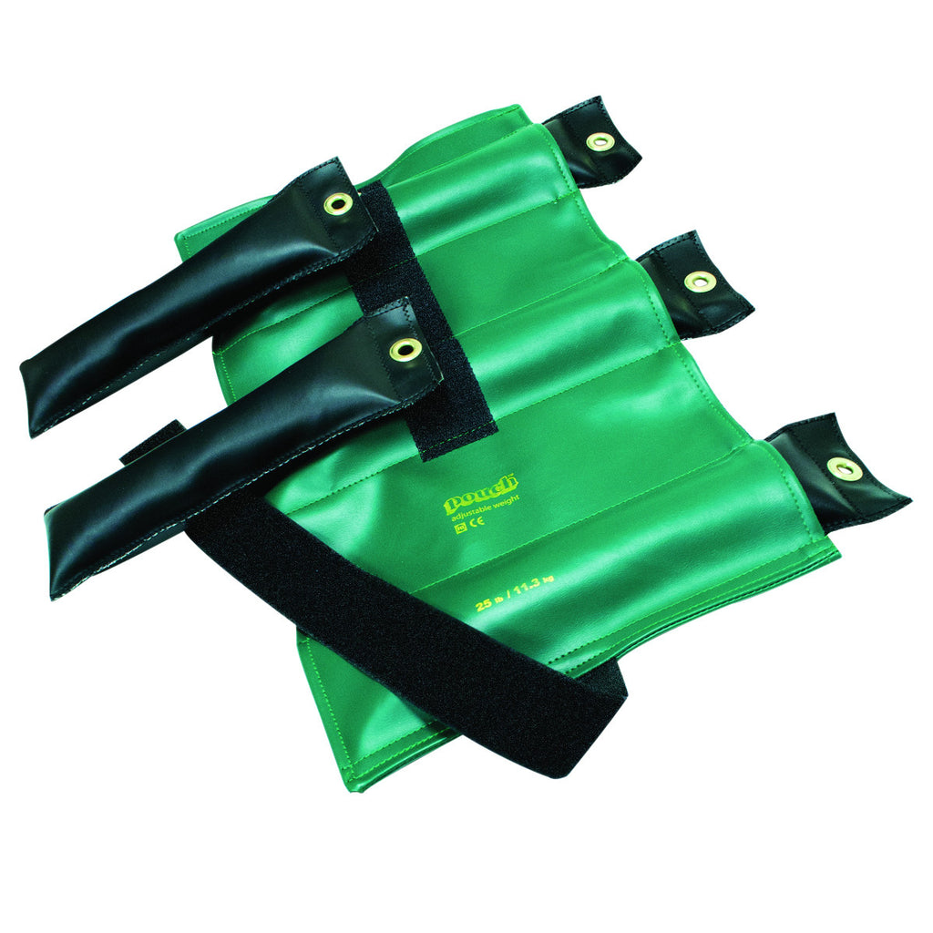 Pouch® Variable Wrist and Ankle Weight - 25 lb, 5 x 5 lb inserts - Green