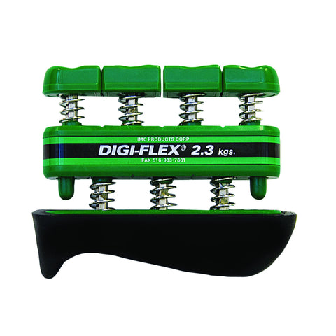 CanDo® Digi-Flex® hand exerciser - Green, medium - Finger (5.0 lb) / hand (16.0 lb)
