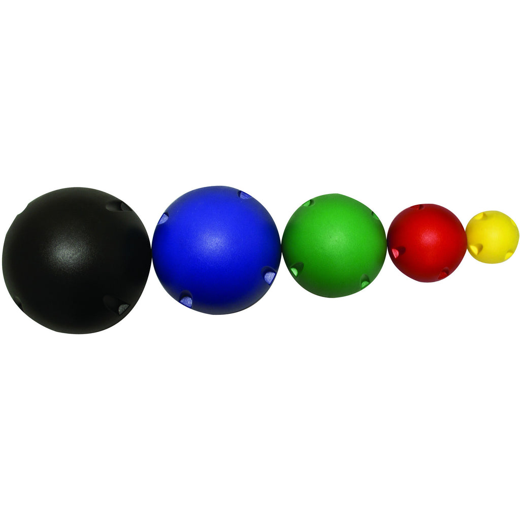 CanDo® MVP® Balance System - 5-Ball Set (1 each: yellow, red, green, blue, black), no rack