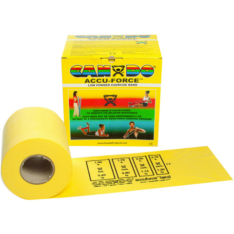 CanDo® AccuForce™ Exercise Band - 50 yard roll