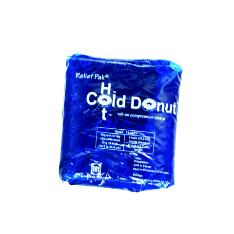 "Relief Pak® Cold n' Hot® Donut® Compression Sleeve - small (for 15-21"" circumference) - Case of 10"