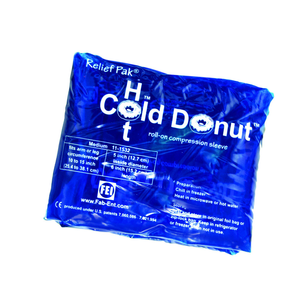 "Relief Pak® Cold n' Hot® Donut® Compression Sleeve - medium (for 10"" - 15"" circumference), dozen"