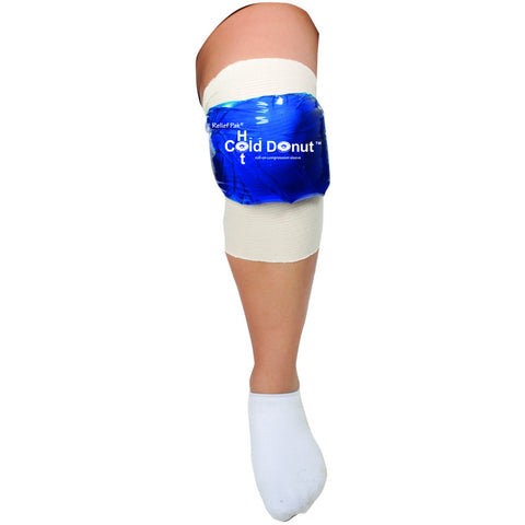 "Relief Pak® Cold n' Hot® Donut® Compression Sleeve - large (for 15"" - 21"" circumference)"