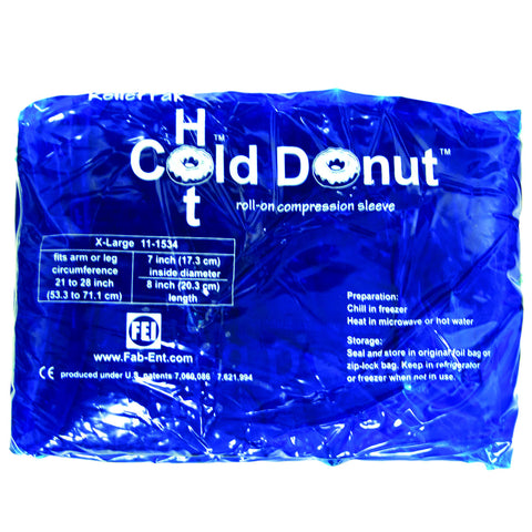 "Relief Pak® Cold n' Hot® Donut® Compression Sleeve - x-large (for 21"" - 28"" circumference), dozen"