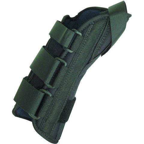 "8"" soft wrist splint left, large 7-9"" with abducted thumb"