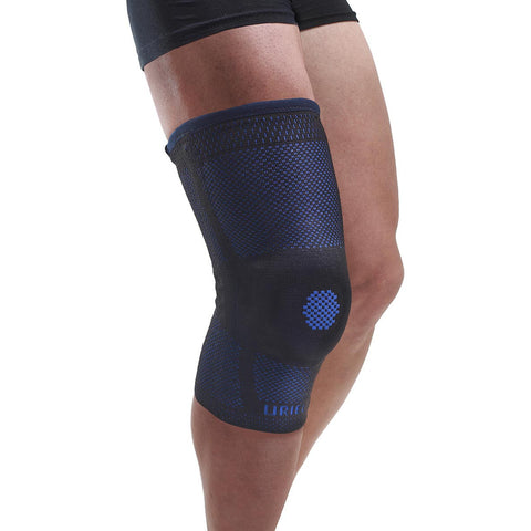 Uriel Genusil Rigid Knee Sleeve, Patella Support, Medium, Blue