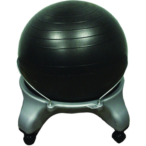 "CanDo® Ball Stool - Plastic - Mobile - No Back - Adult Size - with 20"" Ball"