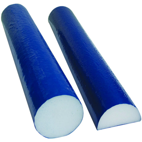 CanDo® Foam Roller - PE foam, Blue TufCoat® Finish