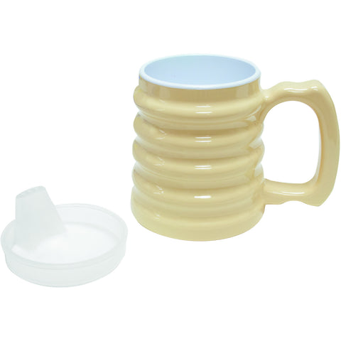 Hand-to-hand mug 10oz with spout lid