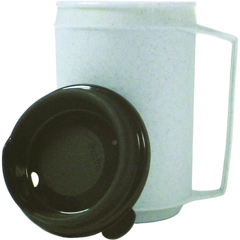 Insulated cup, no-spill lid 8 oz.