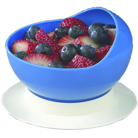 Scoop bowl with suction cup base