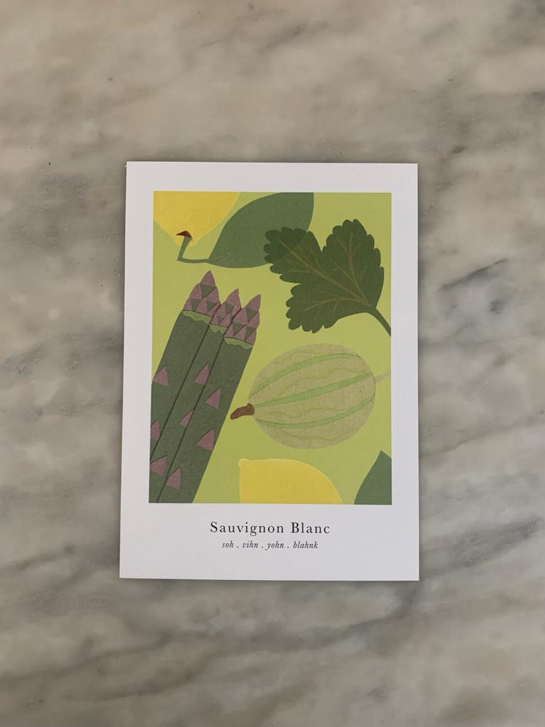 Grape Variety Postcards (Pack of 8)