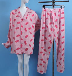 MINT UNWORN MEN'S HEART PRINT COTTON PAJAMAS BY VAN HEUSEN