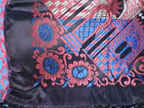 ANTIQUE NEVER USED RICH JEWEL TONE TAJ MAHAL SCARF / PIANO SHAWL W FRINGE 4