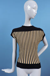 VINTAGE EARLY 1960'S STRIPED COTTON JERSEY SPORTING TOP