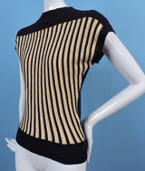 VINTAGE EARLY 1960'S STRIPED COTTON JERSEY SPORTING TOP 1