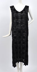 ROCK HEAVY 1920'S BLACK PATCHWORK BEADED FLAPPER 1920'S DRESS  1