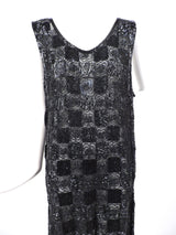 ROCK HEAVY 1920'S BLACK PATCHWORK BEADED FLAPPER 1920'S DRESS 3