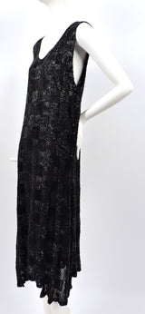 ROCK HEAVY 1920'S BLACK PATCHWORK BEADED FLAPPER 1920'S DRESS  11