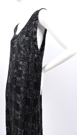 ROCK HEAVY 1920'S BLACK PATCHWORK BEADED FLAPPER 1920'S DRESS  12