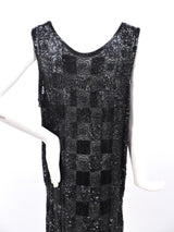 ROCK HEAVY 1920'S BLACK PATCHWORK BEADED FLAPPER 1920'S DRESS  167