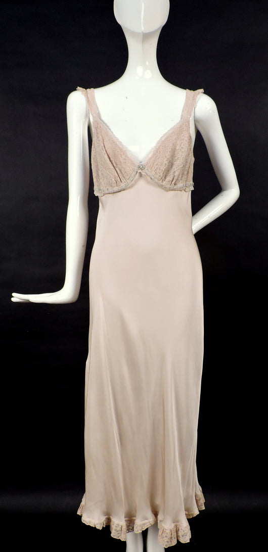 CUSTOM MADE 1930'S STYLE SILK DRESS / NIGHT GOWN FROM BOARDWALK EMPIRE SERIES 1