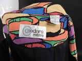 VINTAGE 1980'S SILK JACKET WITH COLORFUL FEDORA PRINT 5