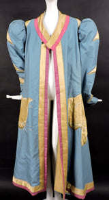 DRAMATIC THEATRICAL COSTUME COAT WITH PUFF SLEEVES AND LARGE SATIN CAT 2