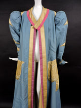 DRAMATIC THEATRICAL COSTUME COAT WITH PUFF SLEEVES AND LARGE SATIN CAT 3