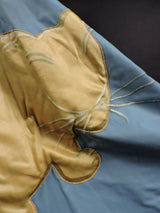 DRAMATIC THEATRICAL COSTUME COAT WITH PUFF SLEEVES AND LARGE SATIN CAT 6