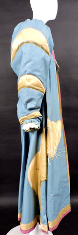 DRAMATIC THEATRICAL COSTUME COAT WITH PUFF SLEEVES AND LARGE SATIN CAT 7