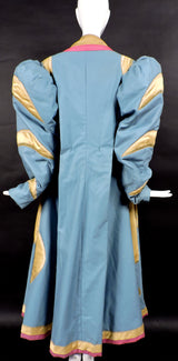 DRAMATIC THEATRICAL COSTUME COAT WITH PUFF SLEEVES AND LARGE SATIN CAT 8