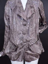 SHINING 1930'S METALLIC BROCADE FLORAL LAME JACKET 1