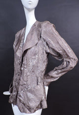 SHINING 1930'S METALLIC BROCADE FLORAL LAME JACKET 2