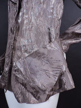 SHINING 1930'S METALLIC BROCADE FLORAL LAME JACKET 3