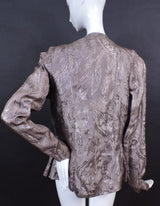 SHINING 1930'S METALLIC BROCADE FLORAL LAME JACKET 4