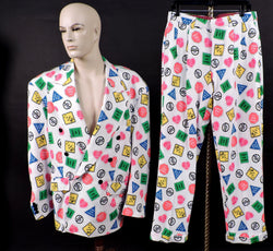 SAY NO TO DRUGS - VINTAGE CUSTOM MADE 2 PIECE MEN'S SUIT 1
