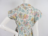 GREAT 1950'S DINER NOVELTY PRINT COTTON DRESS WITH EYELET RUFFLES 9