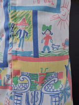 1970'S GIRL'S DRESS IN CRAYON DRAWING PRINT 7