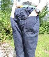 VINTAGE 1970'S DENIM PANTS W PATCH POCKET FRONT 2