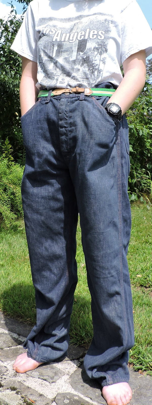 VINTAGE 1970'S MEN'S DENIM PANTS SIZE 34 INCH WAIST 1